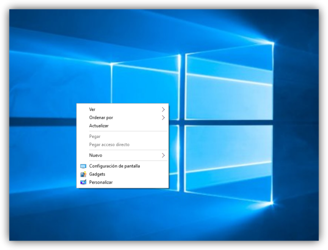 Añadir gadgets a Windows 10