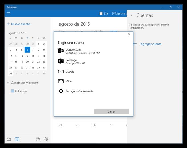 Añadir cuenta de sincronización a Windows 10