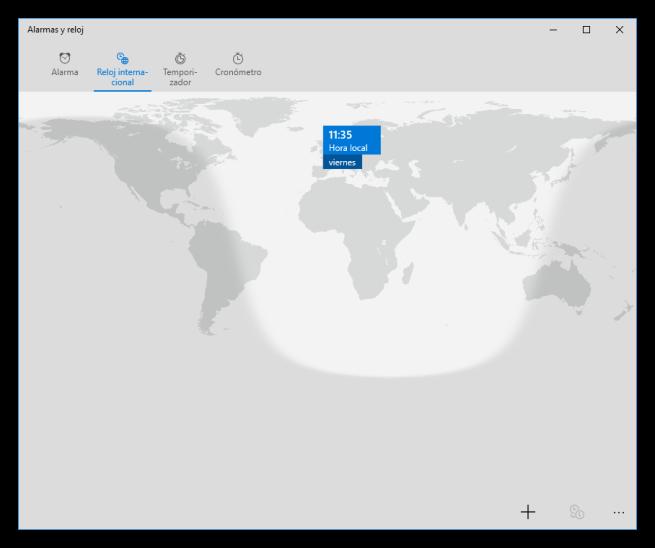 Relojes mundiales en Windows 10
