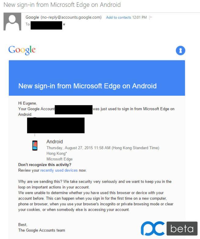 Llegada de Edge a Android