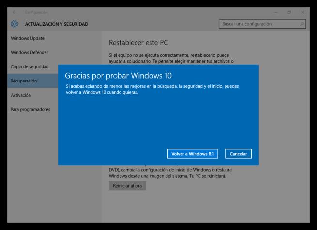 Gracias por usar Windows 10