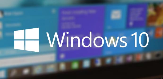 Imagen y logo de Windows 10 sobre un fondo