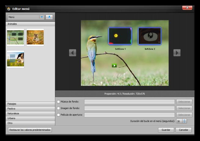 Aiseesoft DVD Creator - Editar plantilla