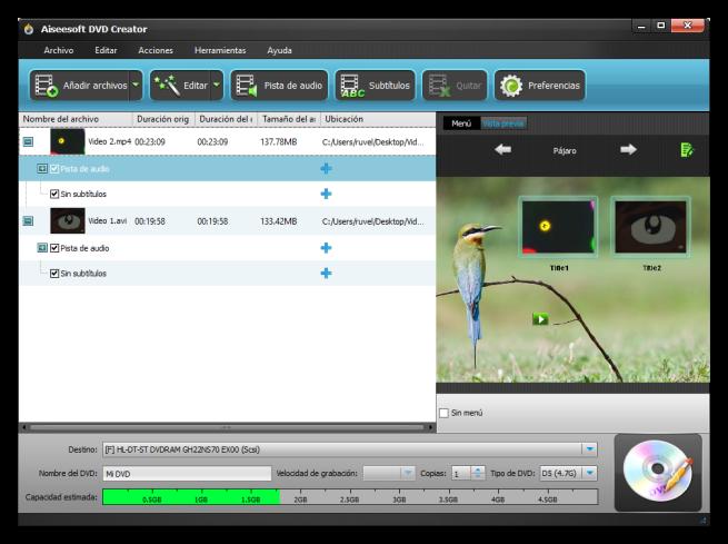 Aiseesoft DVD Creator - Resumen de clips