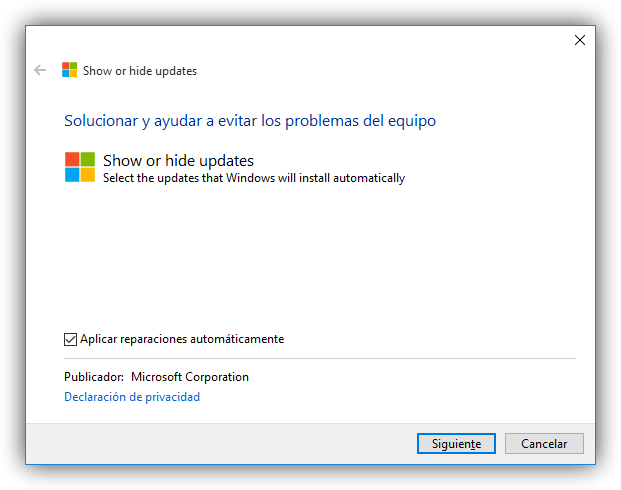 Bloquear actualizacion de drivers en Windows 10