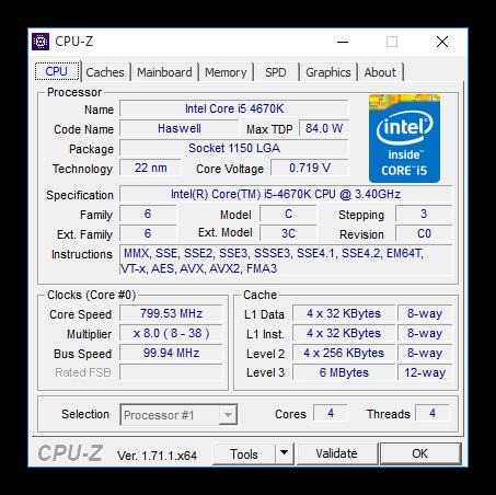 CPU-Z - Comprobar soporte de la CPU para 64 bits