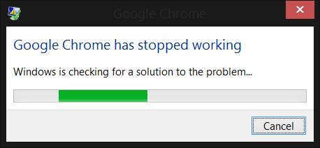 Error de Chrome