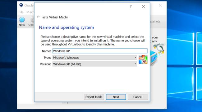 Maquina virtual en Windows 10