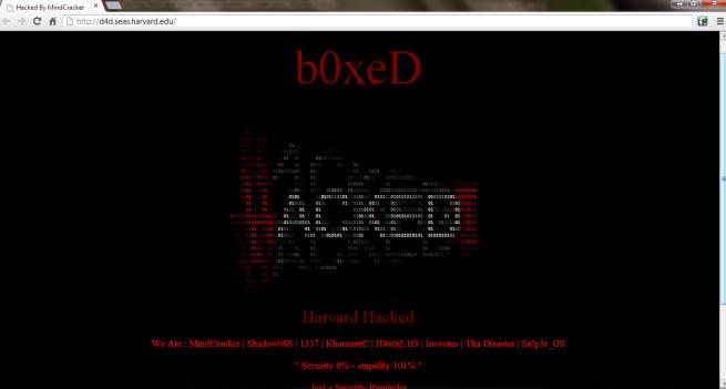 Secuestro de dominio de Harvard University