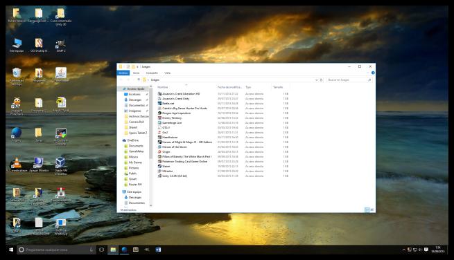 problema con la vista de iconos de Windows 10