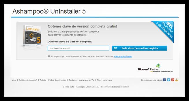 Ashampoo UnInstaller 5 - Licencia gratis 2