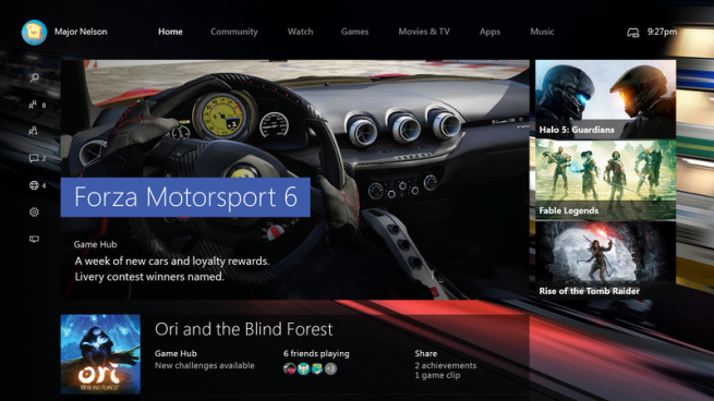 Windows 10 en Xbox One