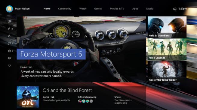 Windows 10 en Xbox One