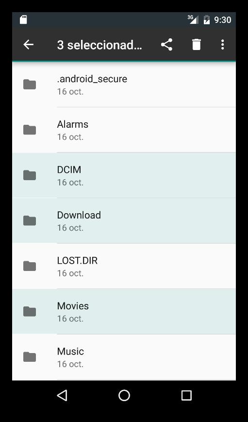 Explorador de archivos en Android 6.0 - 3