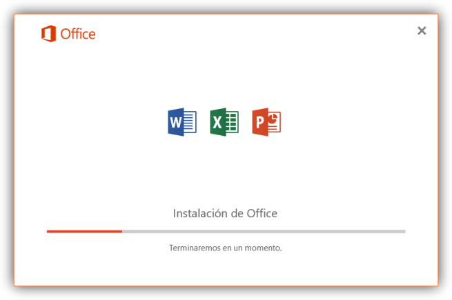 Instalando Word, Excel y PowerPoint de Office 2016