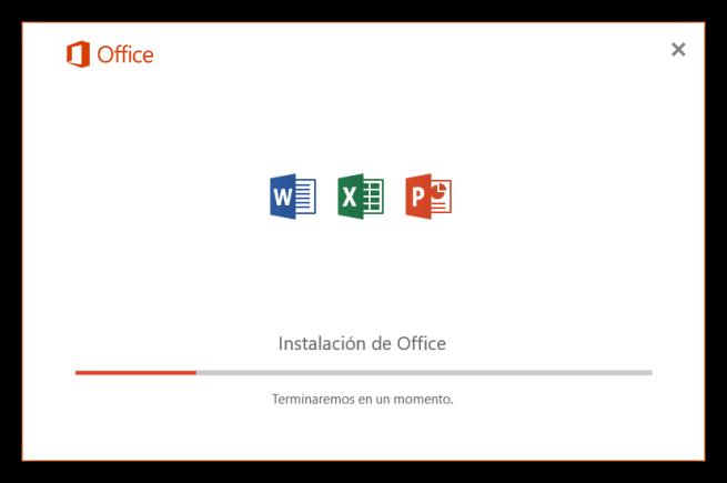 Instalando Word, Excel y PowerPoint de Office 2016