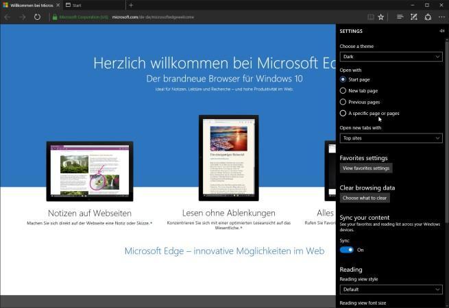 Sincronizar Microsoft Edge