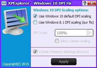 Ajutstes DPI en Windows 10