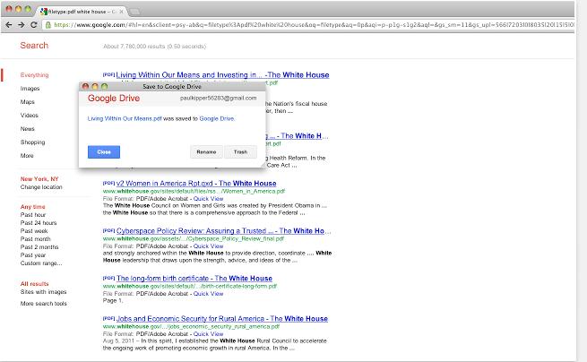 Guardar en Google