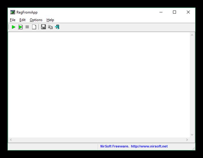 RegFromApp - ventana principal