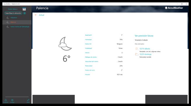 AccuWeather para Windows 10 - Clima en tiempo real
