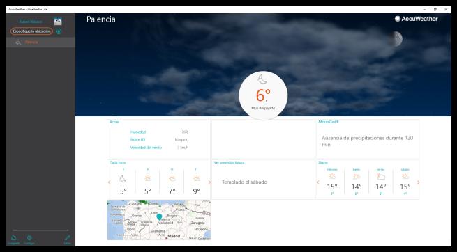 AccuWeather para Windows 10 - previsión meteorológica