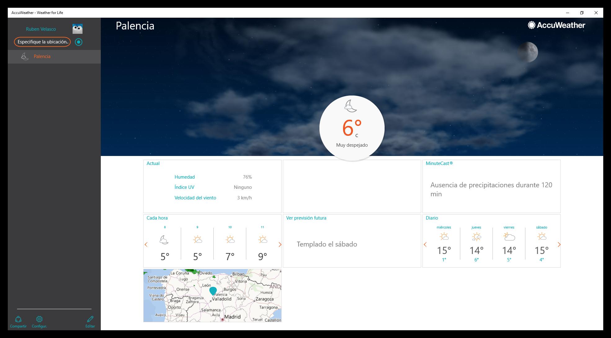 Consulta la previsi n meteorol gica con accuweather para for Consul windows