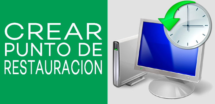 Crear punto restauración de Windows