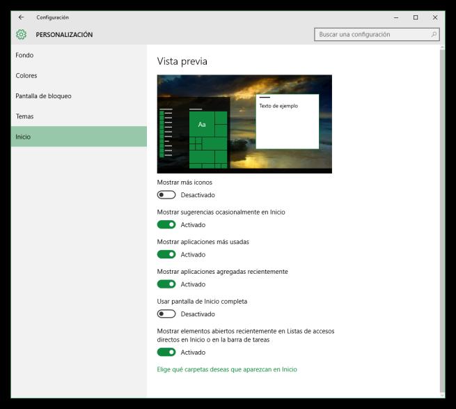 Desactivar publicidad del menú inicio de Windows 10