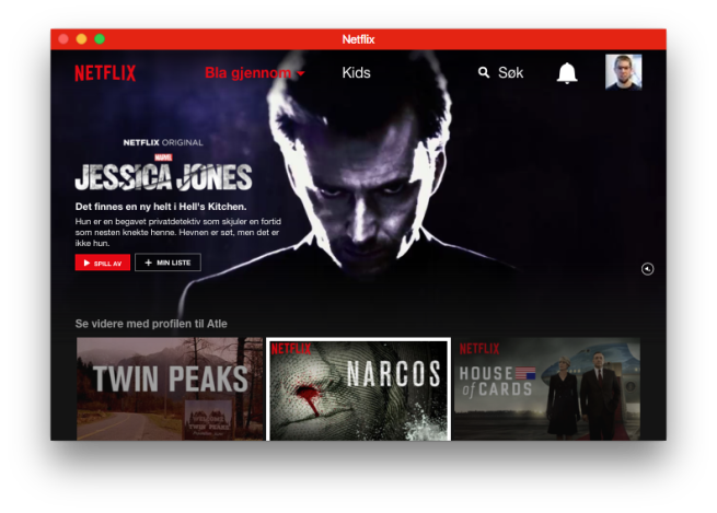 Netflix en Vivaldi Browser