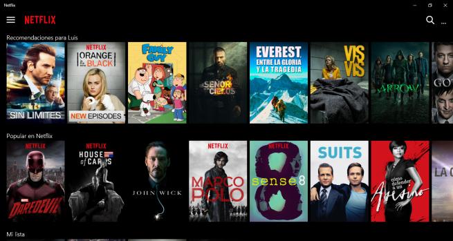 Nueva app de Netflix