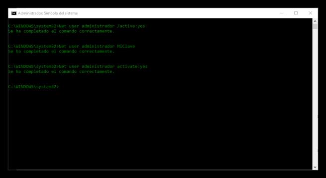 Cambiar contraseña super-administrador Windows