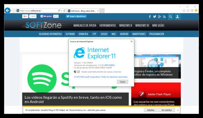 Internet Explorer - Navegadores actualizados