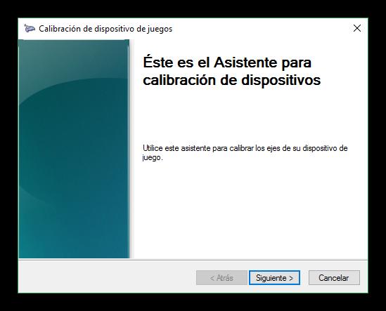 Asistente para calibrar mando en Windows 10