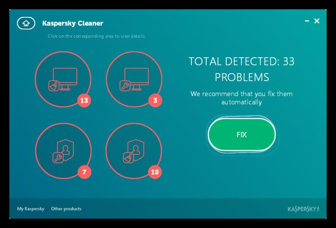 Kaspersky Cleaner - Resumen limpieza PC