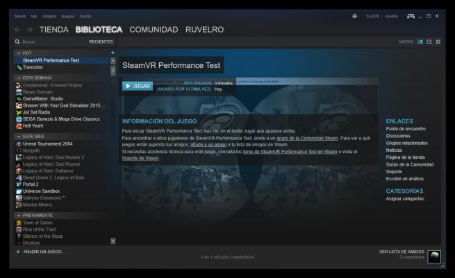 Probar realidad virtual Steam