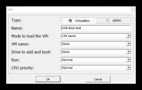 Virtual Machine USB Boot - Configuracion 1