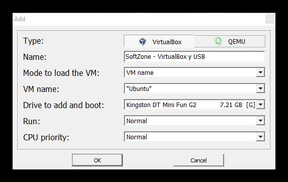 Virtual Machine USB Boot - Configuracion 2