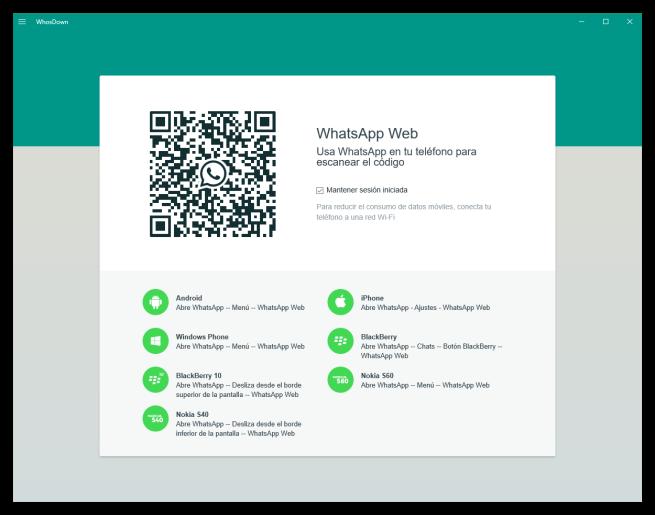 WhosDown - Cliente de WhatsApp para Windows 10
