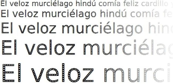 Fuentes tipográficas con agujeros