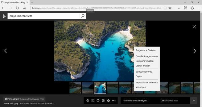 Cortana en Bing