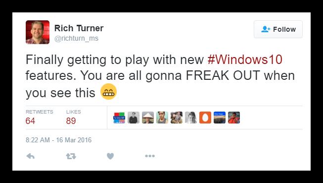 Rich Turner - Novedades Windows 10 Redstone
