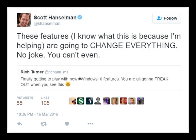 Scott Hanselman - Novedades Windows 10 Redstone