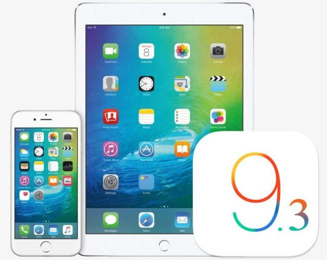 iOS 9.3 disponible