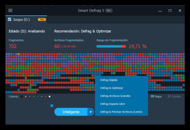 IObit Smart Defrag - Desfragmentar un disco