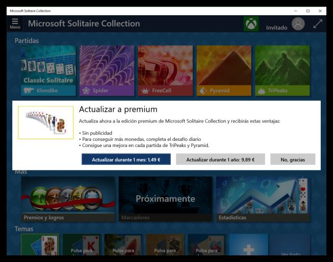 Precios Premium solitario Microsoft