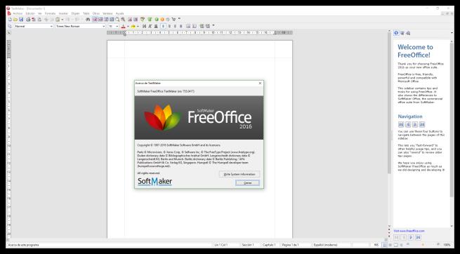 SoftMaker FreeOffice 2016- TextMaker