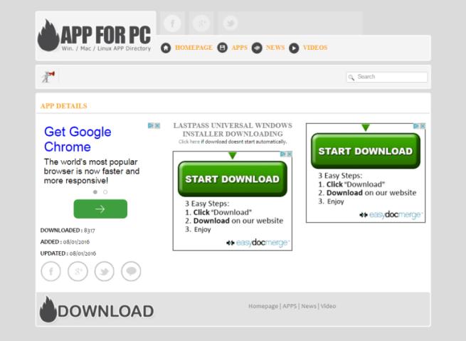 Web a la que dirige la falsa extensión de LastPass
