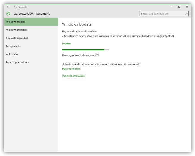 Windows 10 actualización acumulativa abril 2016