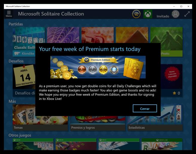 Windows 10 solitario premium
